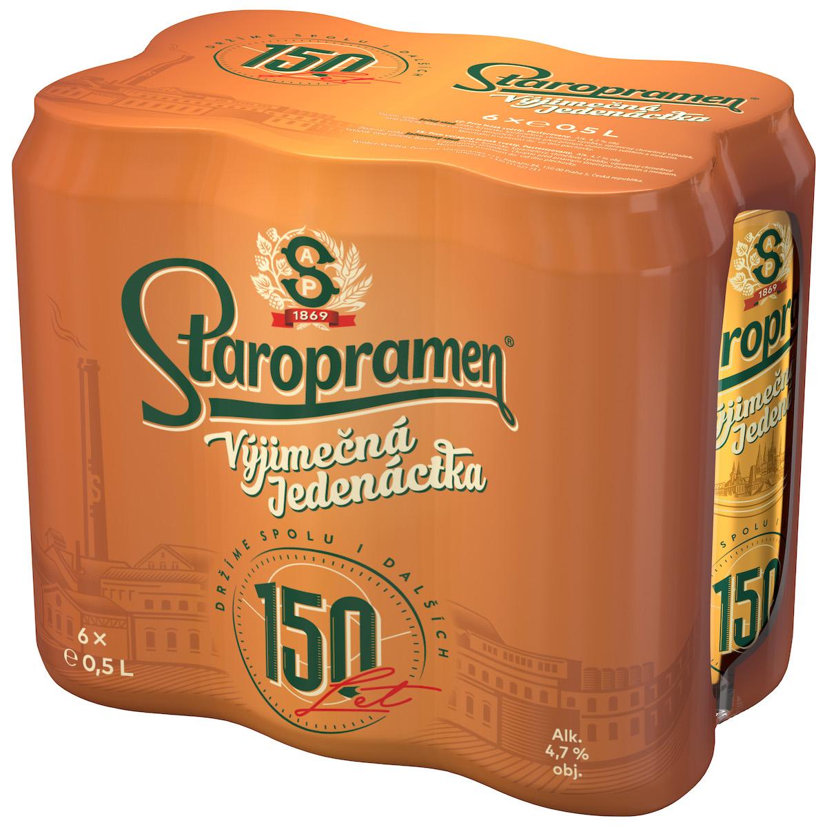 Jedno z balení, které připomíná 150 let pivovaru