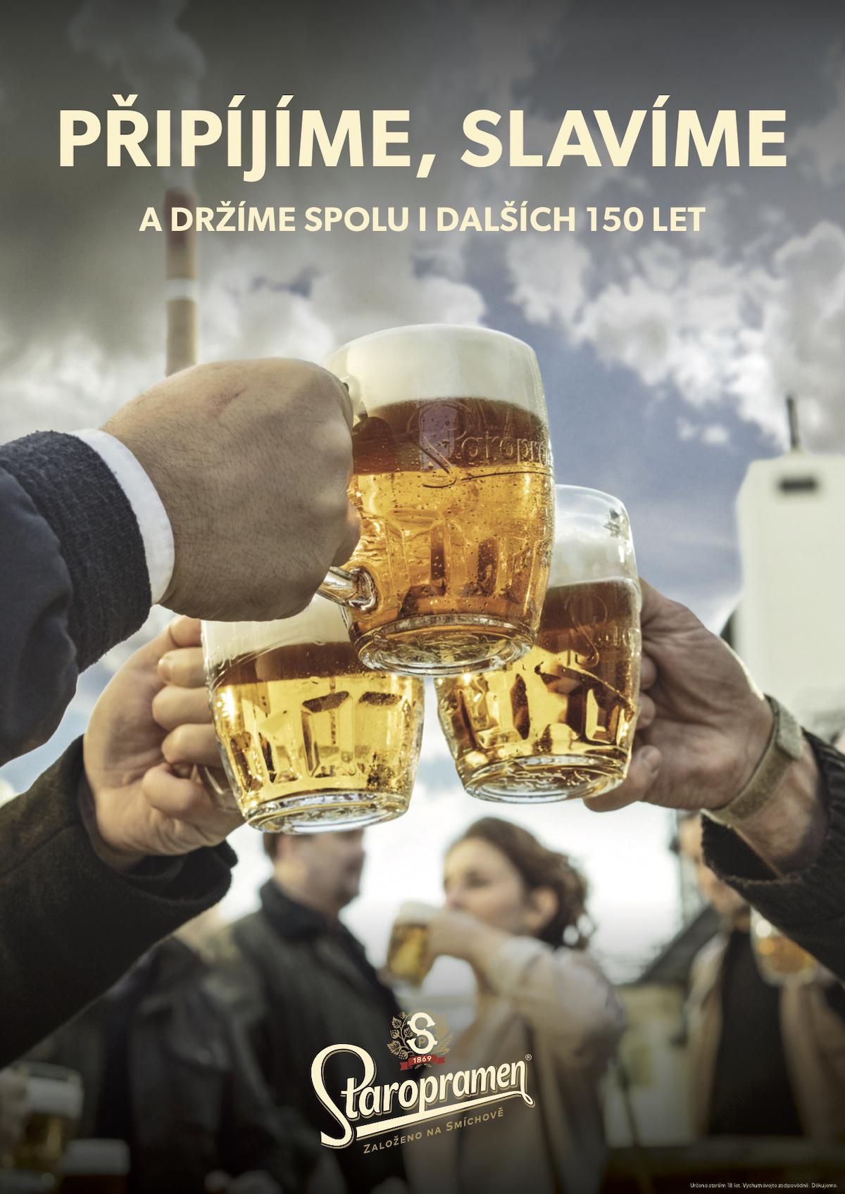 Hynek Čermák jako tvář Staropramenu připomíná 150 let pivovaru
