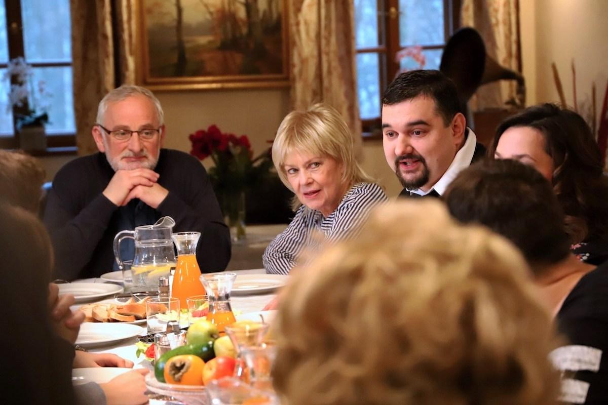 Otec projektu Tomáš Magnusek (vpravo) mezi ostatními herci