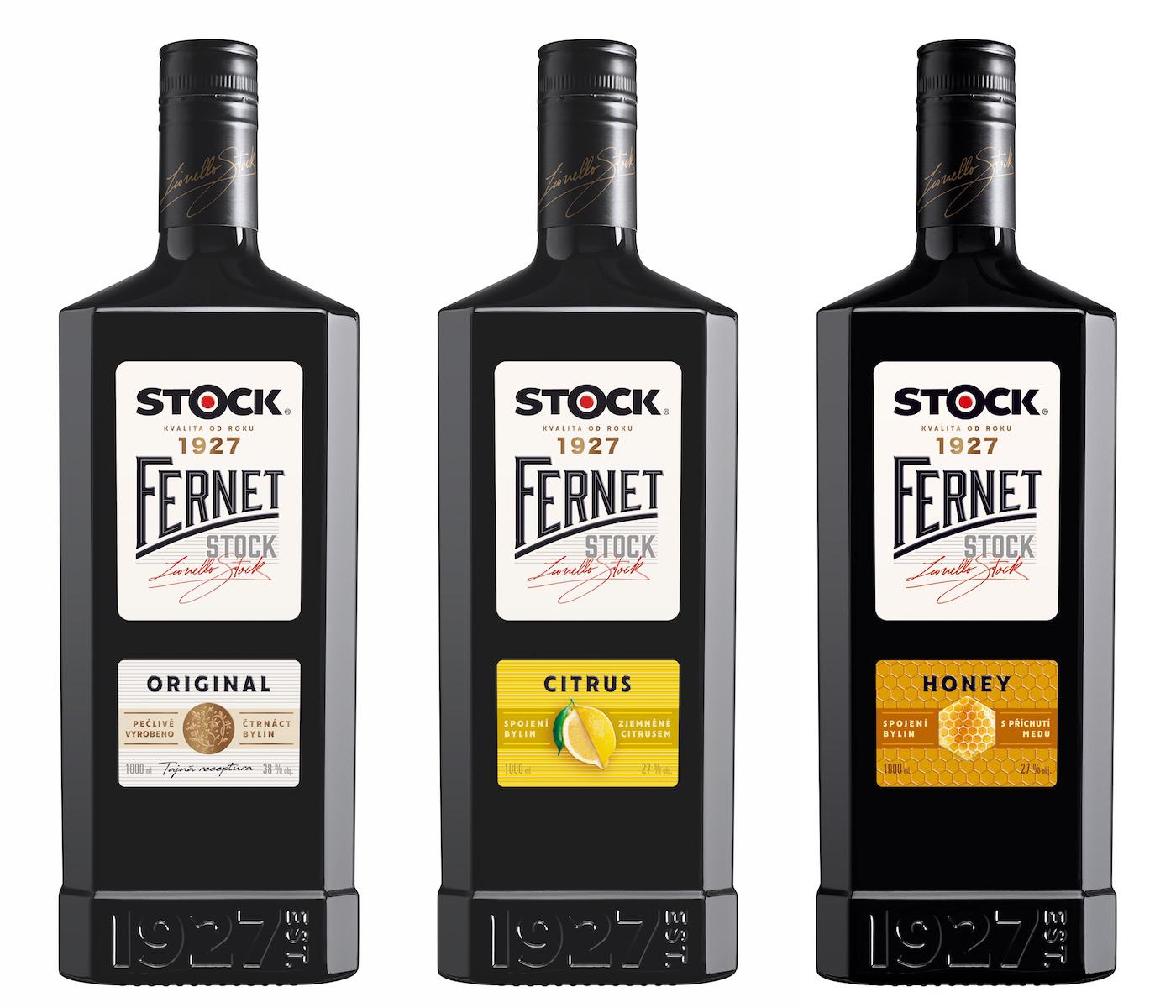 Nové lahve pro Fernet Original, Citrus a nově Honey