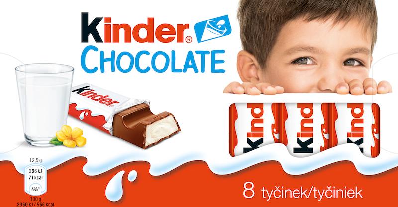 Nový obal čokolády Kinder