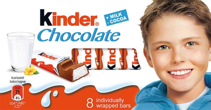 Dosavadní obal čokolády Kinder
