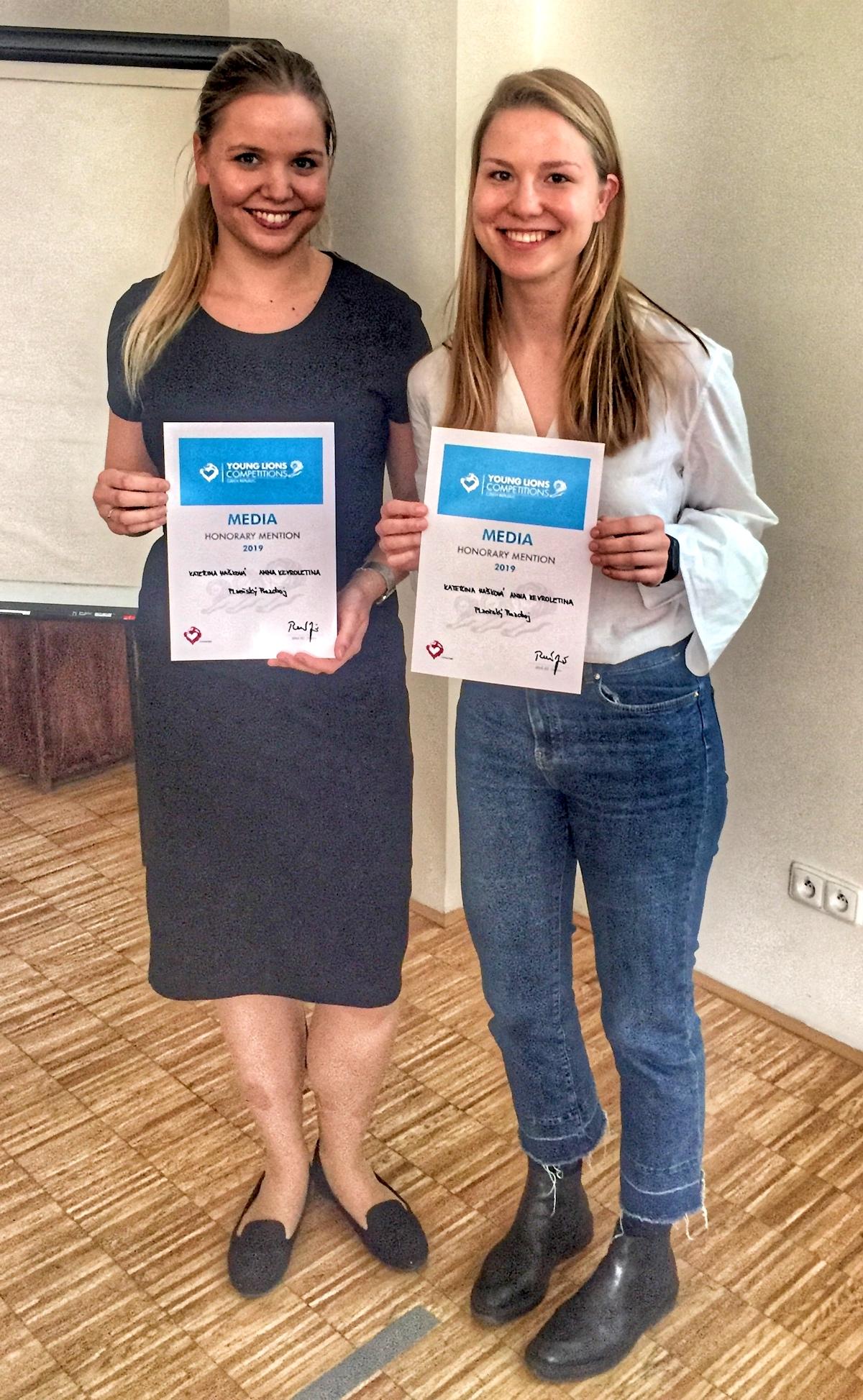 Honorary mention obdrželyKateřina Hašková a Anna Kevroletina z Plzeňského Prazdroje.