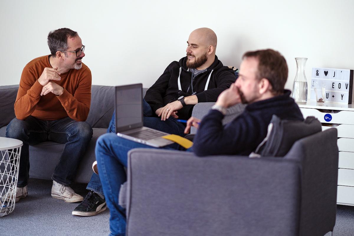Produktový ředitel Edward Meegan (vlevo) a product lead Viliam Džama