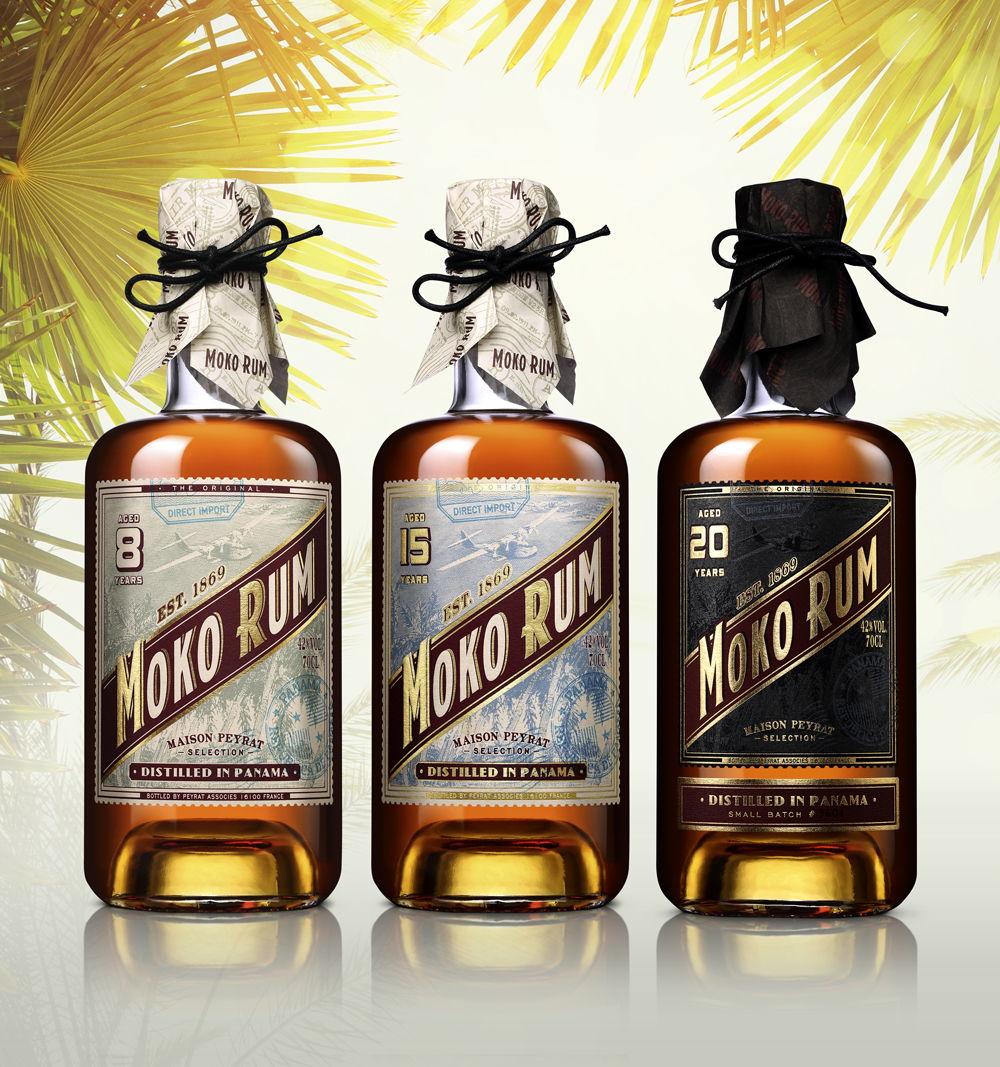 Etiketa rumu byla navržena tak, aby připomínala cestování, odpočinek anávrat do 50. let minulého století
