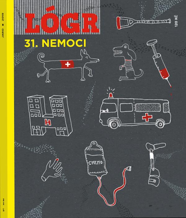 Obálku aktuálního čísla Lógru ilustrovala Eliška Podzimková