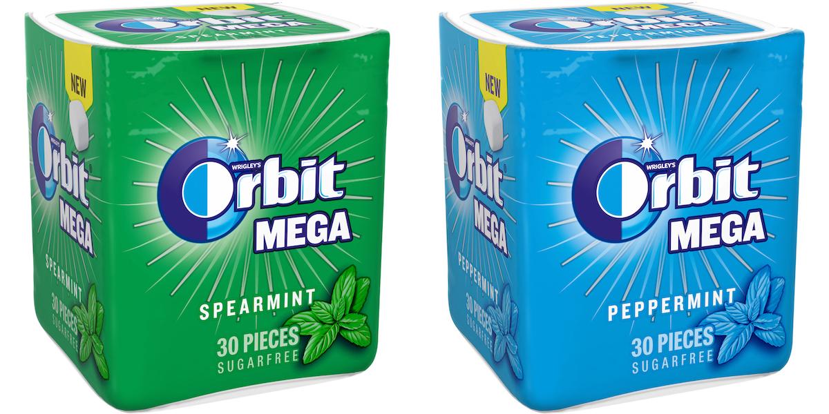 Orbit Mega Peppermint a Spearmint