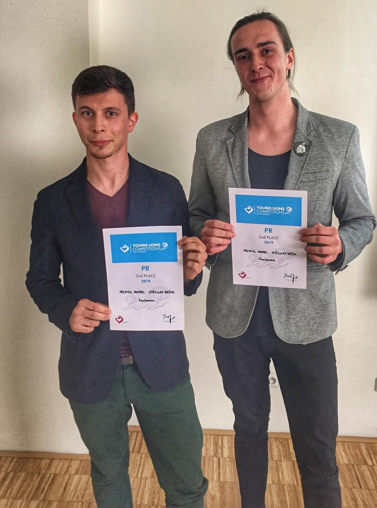 Stříbrní freelanceři Přemysl Adamec a Vítězslav Bečka