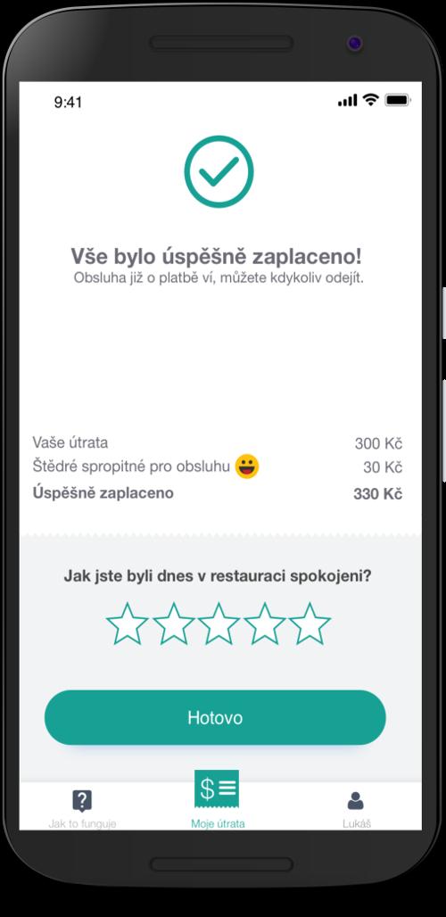 V apce mohou zákazníci restauraci rovnou i ohodnotit