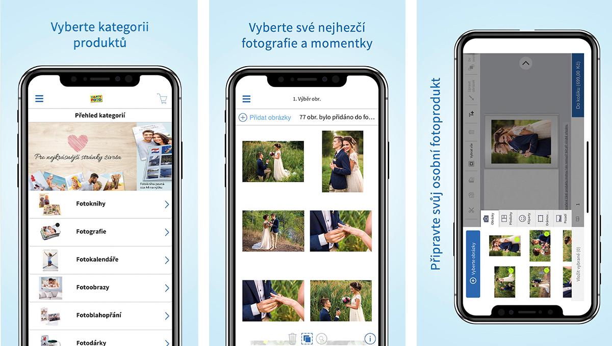 Uživatelé si mohou v aplikaci svůj projekt přizpůsobit od uspořádání fotek až po výběr rámečků a ozdob