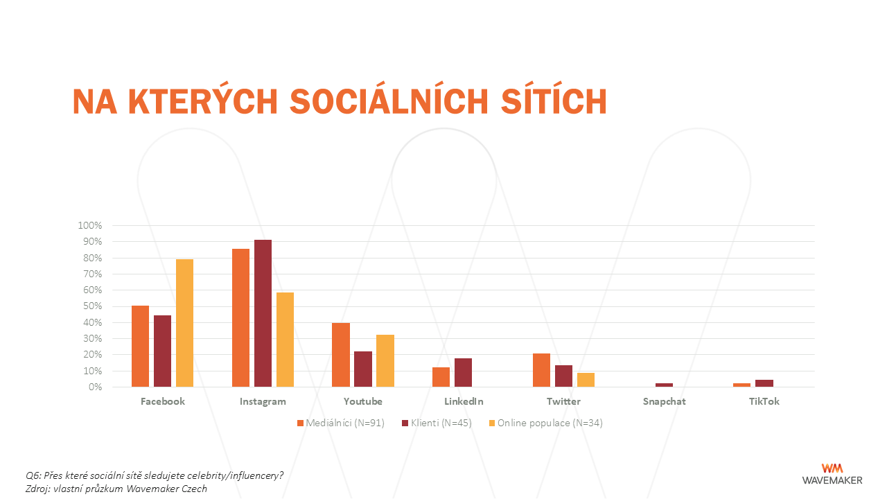 Influenceři: sociální sítě