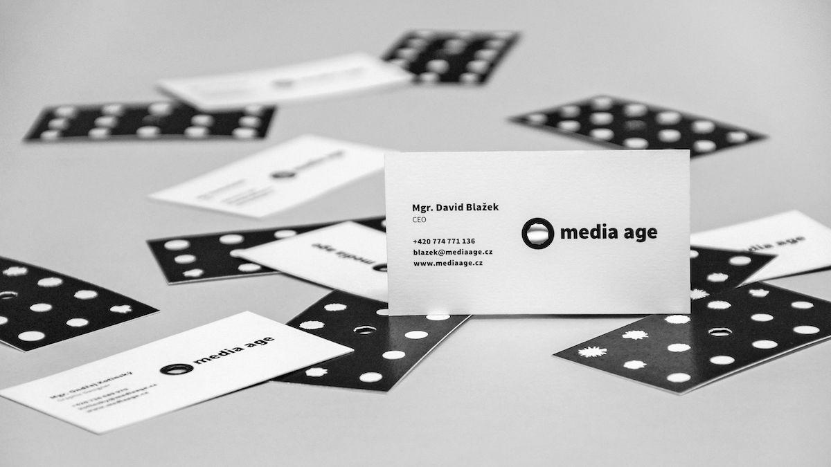 Nová vizuální identita agentury Media Age: vizitky
