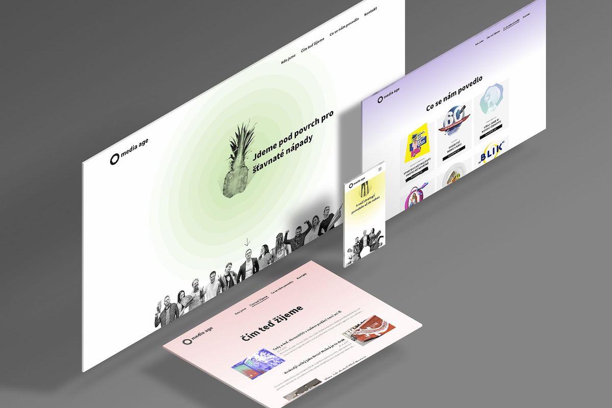 Nová vizuální identita agentury Media Age: web