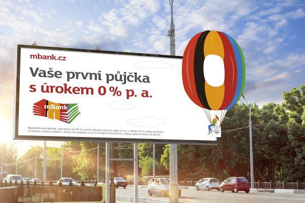 mBank pokračuje s ilustracemi od Surovcové, kreslená nula je balón