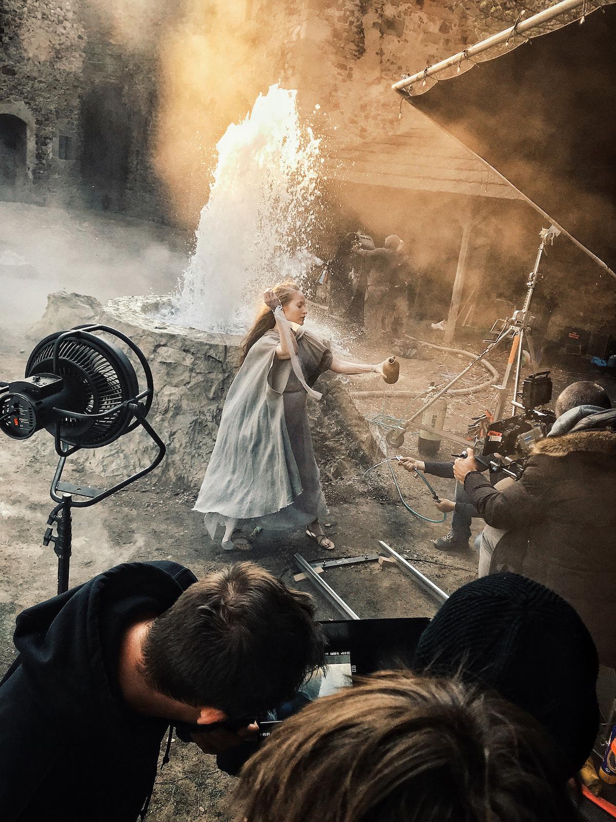 Z natáčení kampaně značky Kláštorná