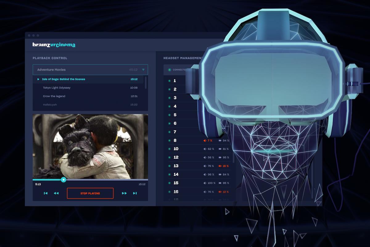 Aplikace Brainz VR Cinema