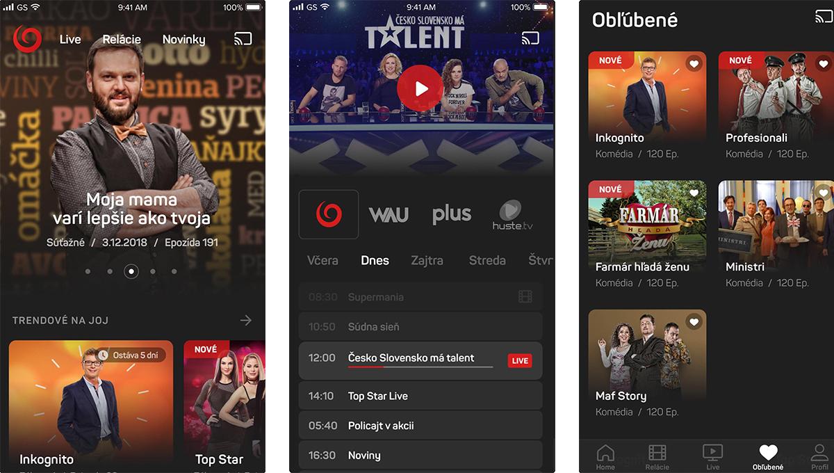 TV Joj nabízí sledování přímých přenosů i dalšího obsahu po dobu 14 dní od vysílání