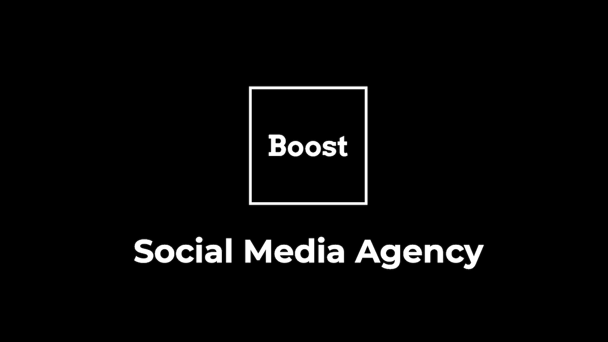 Logo nové agentury Boost Jakuba Lorence