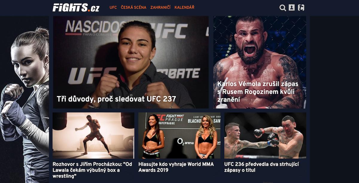Nový web Fights.cz