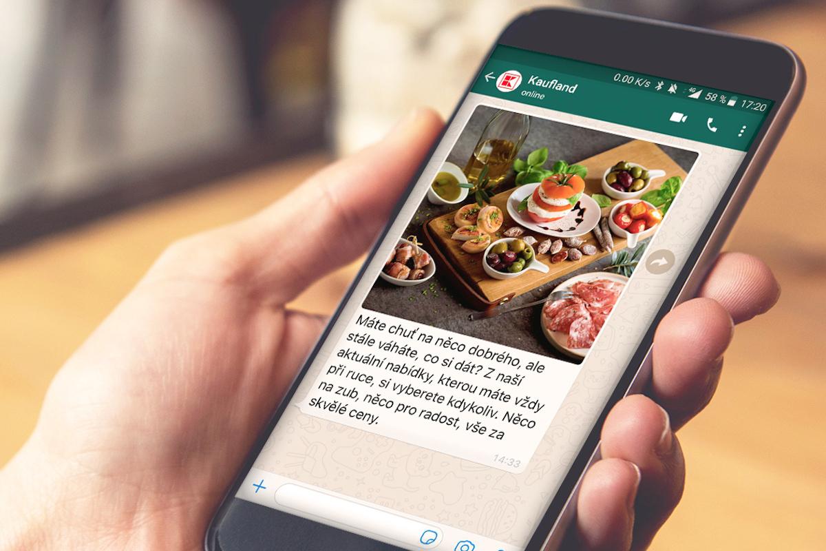 Kaufland je i na sociální síti WhatsApp