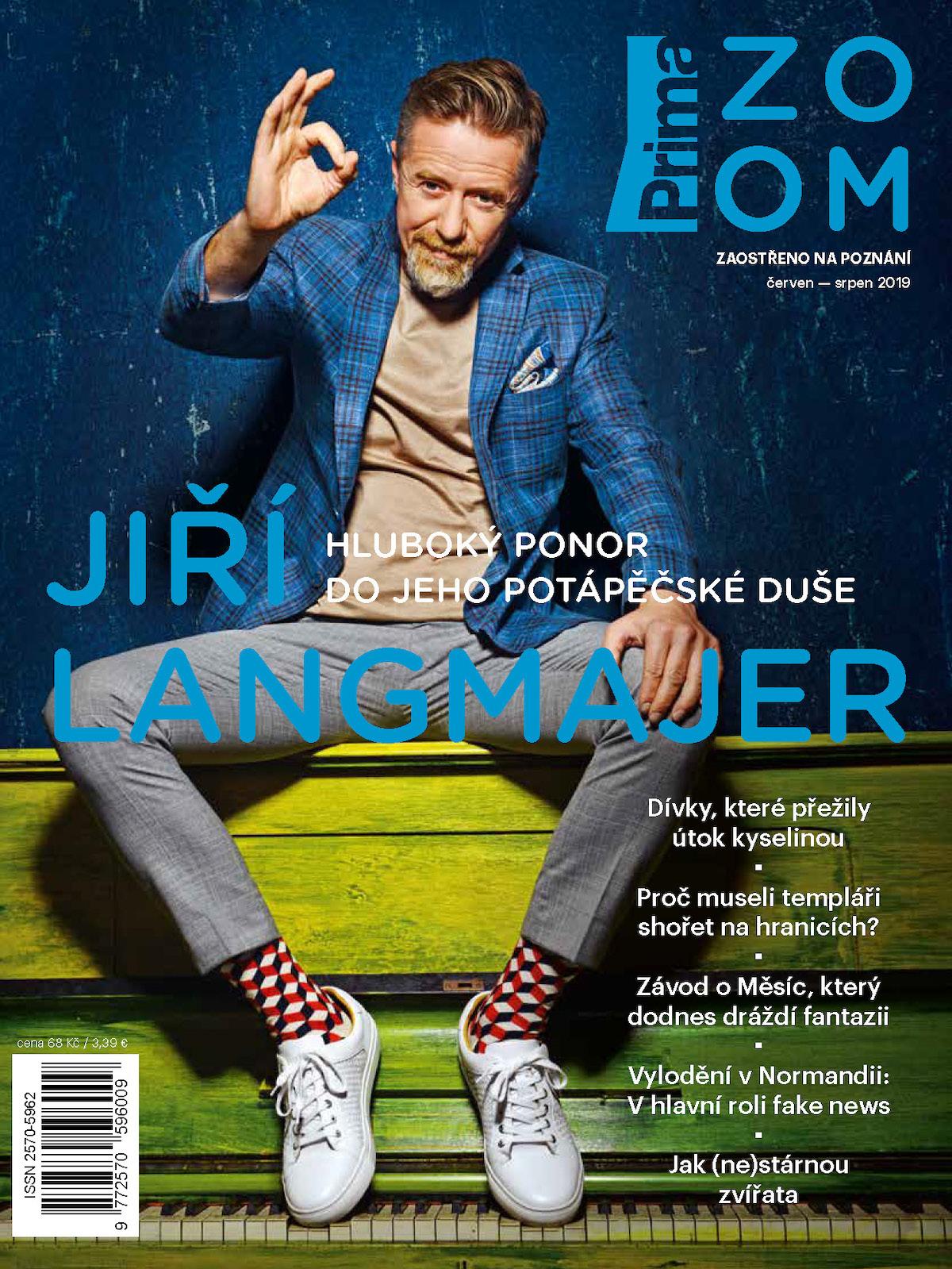 První číslo Prima Zoom podle Klicperové: na obálce Jiří Langmajer