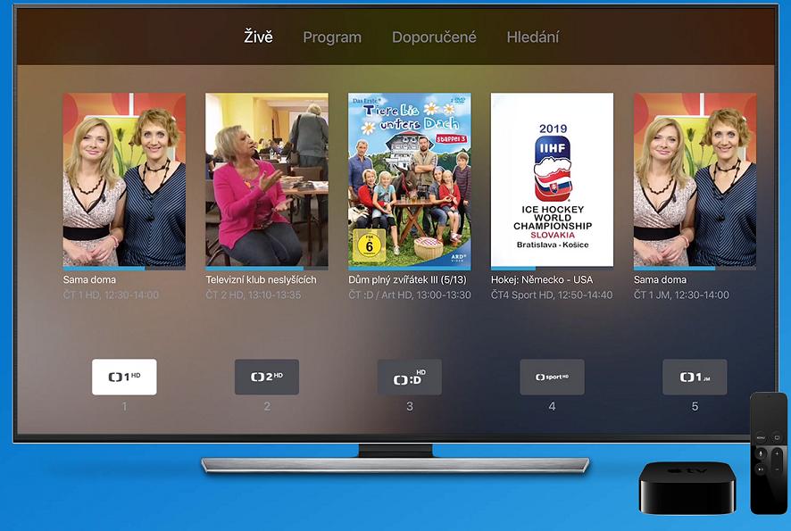 Digi TV nabízí přehled aktuálně vysílaných živých přenosů