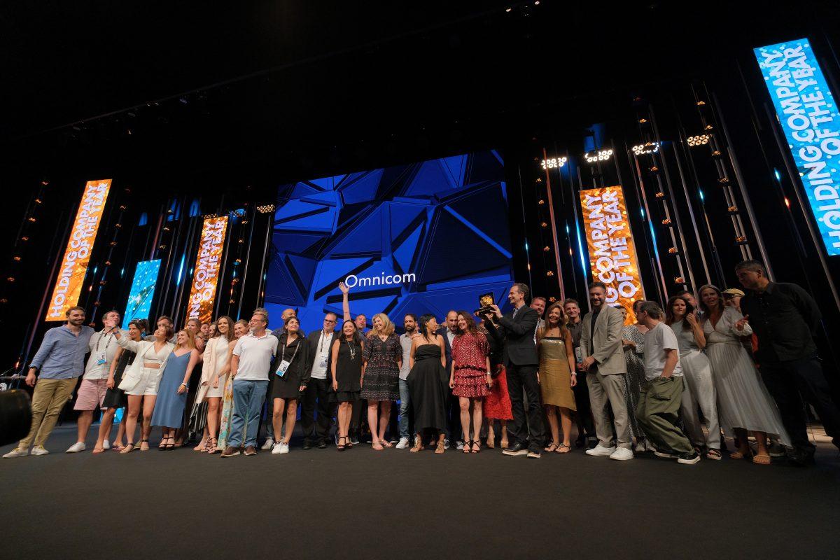 Holdingovou agenturou roku je Omnicom. Foto: Richard Bord (Getty Images) pro Cannes Lions