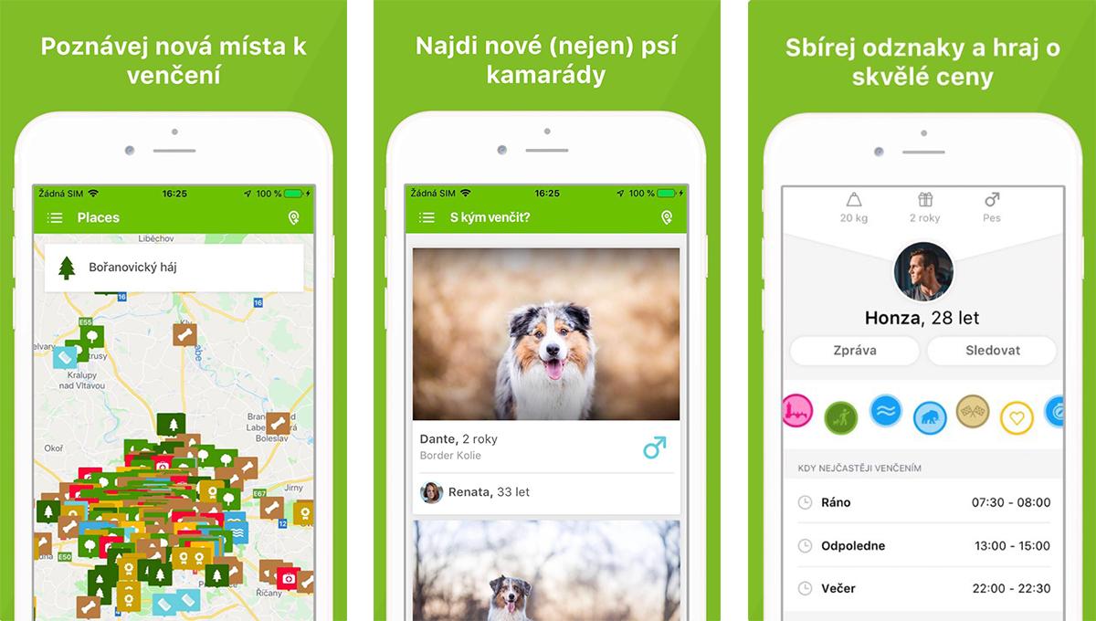 Happy Together nabízí interaktivní mapu i sociální síť pro pejskaře
