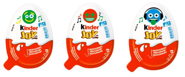 Playlisty v Kinder Joy lze odlišit podle emotikon na obalu