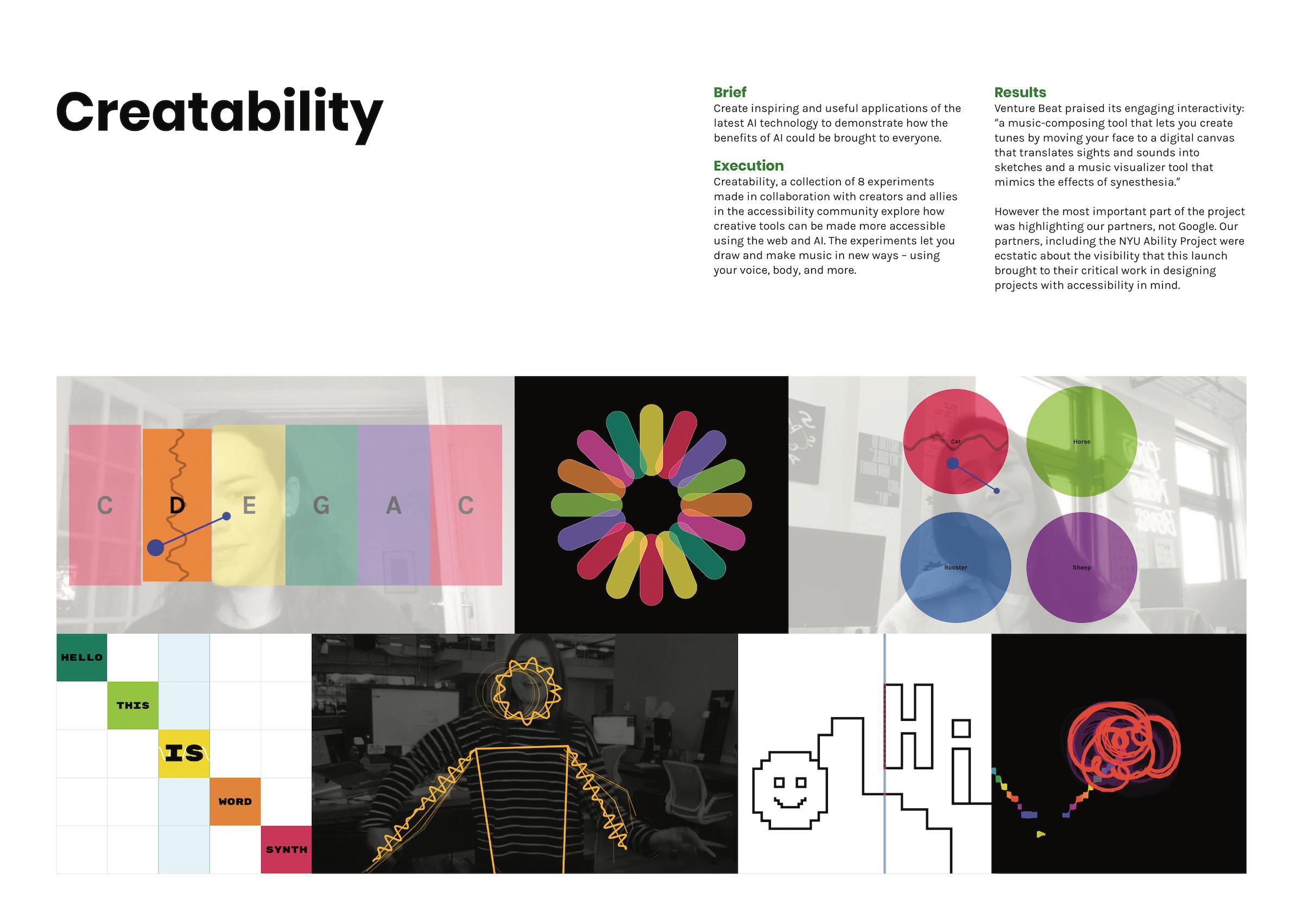 Google Creative Lab: Creatability. Kliknutím zvětšíte