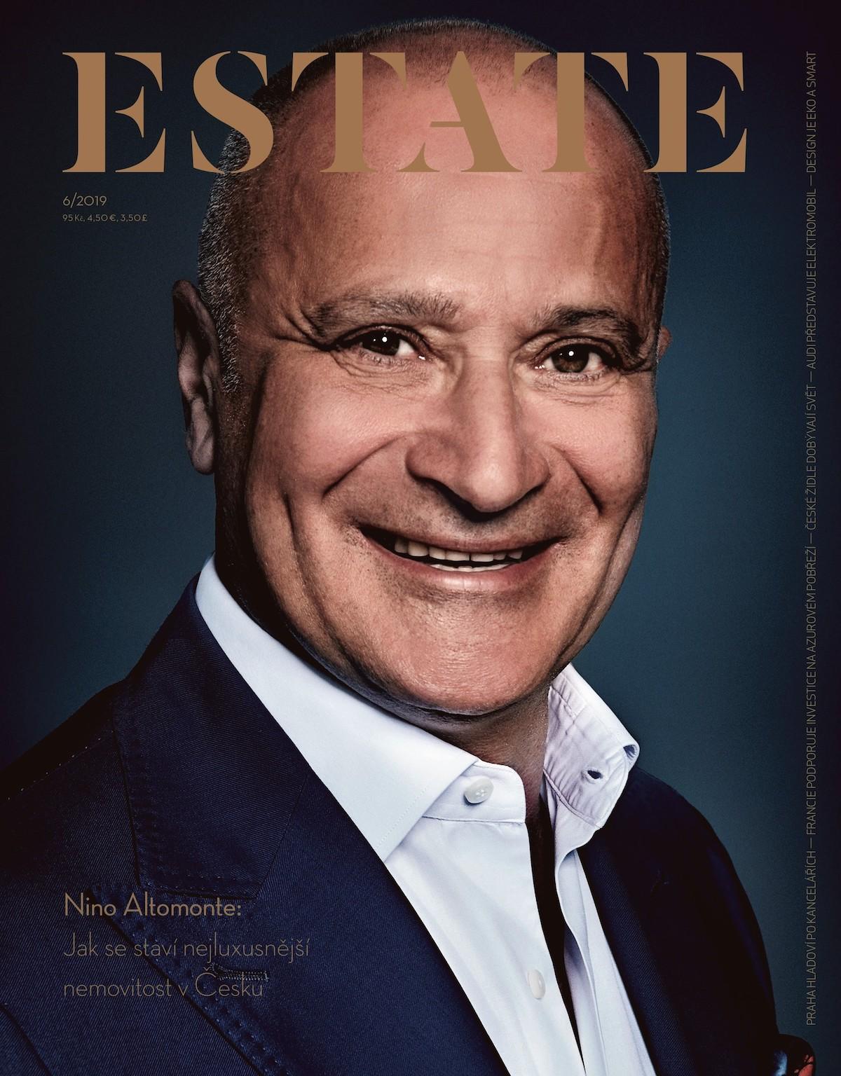 Titulní strana červnového vydání časopisu Estate