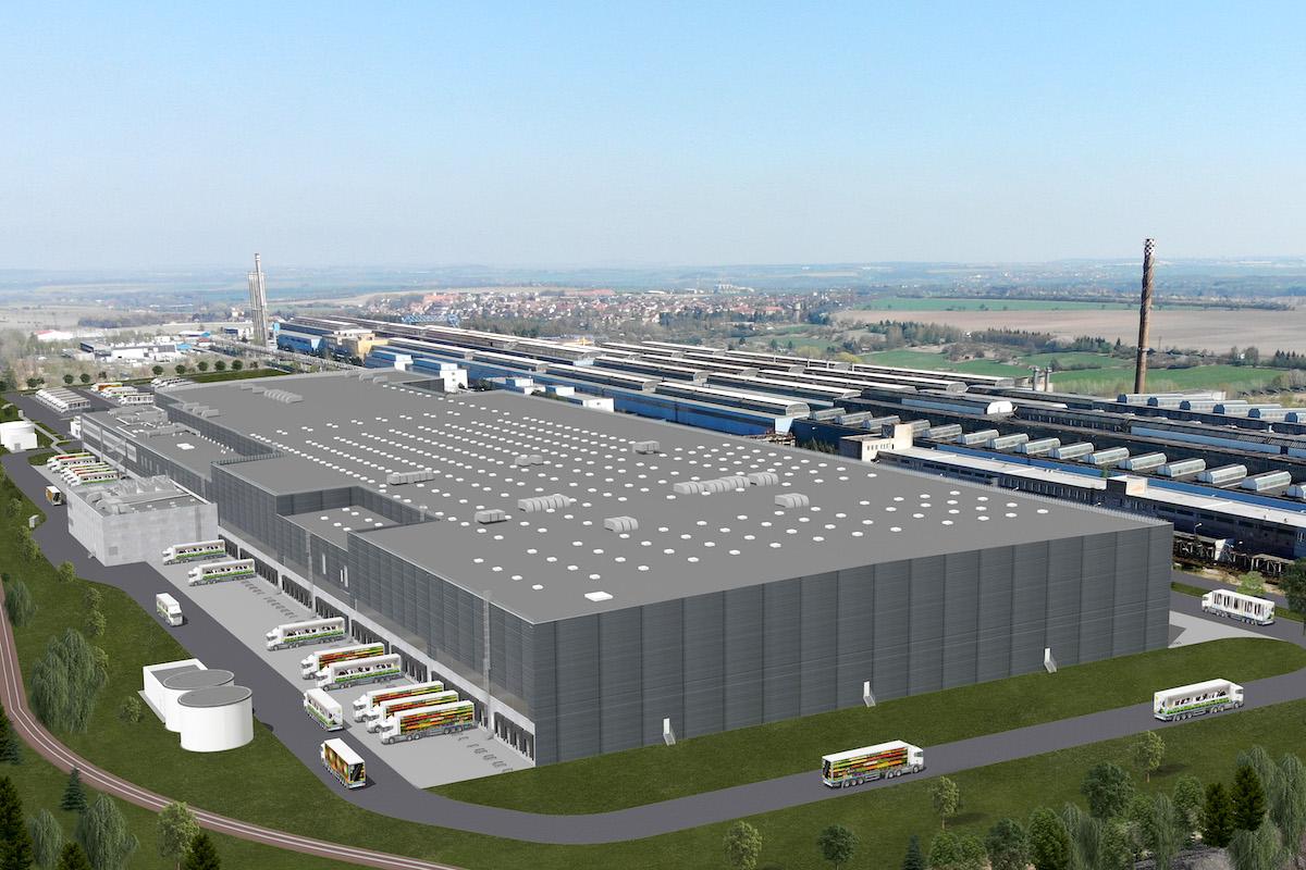 Tak má vypadat nové logistické centrum Lidlu v Buštěhradě