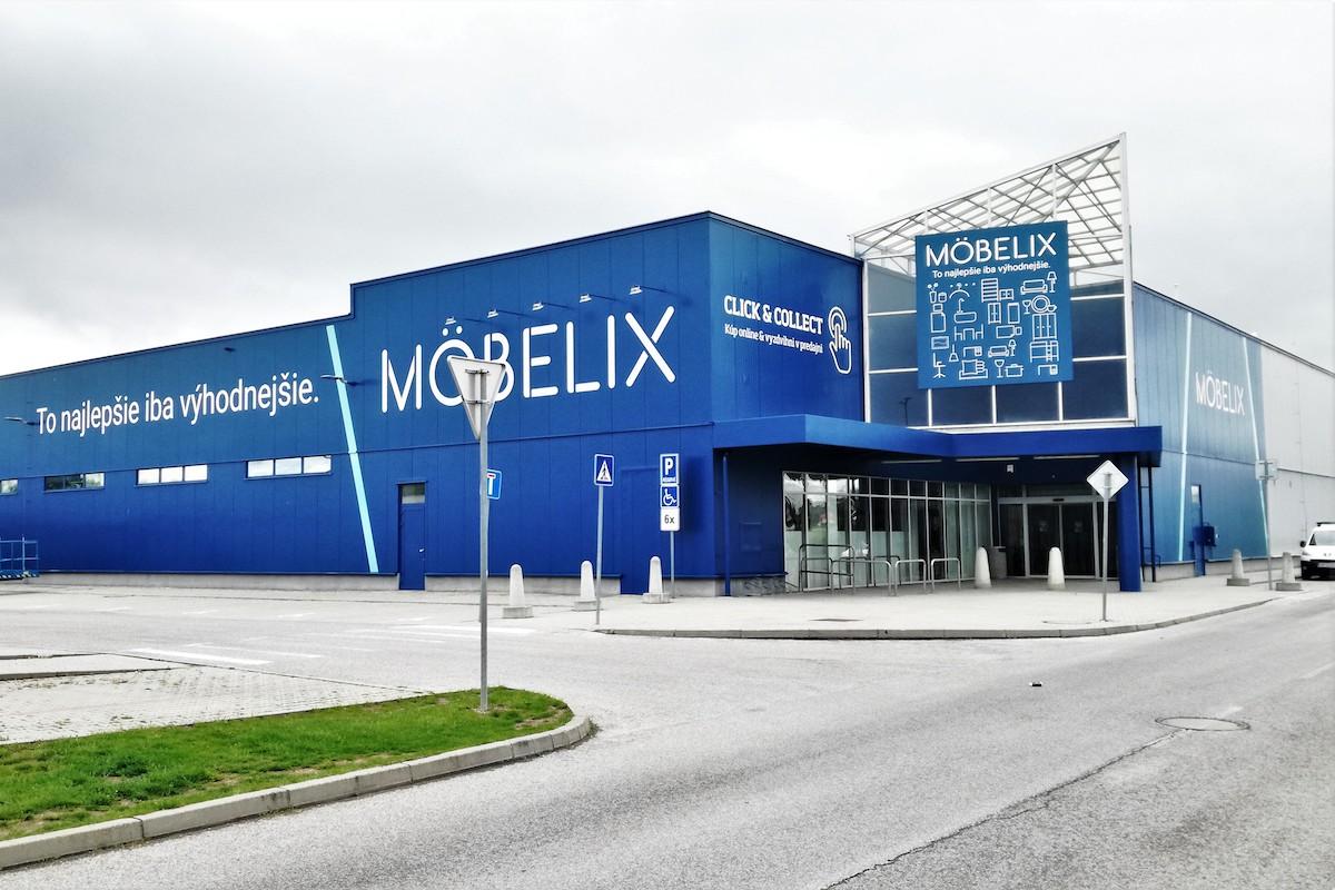 Nový Möbelix v Levicích
