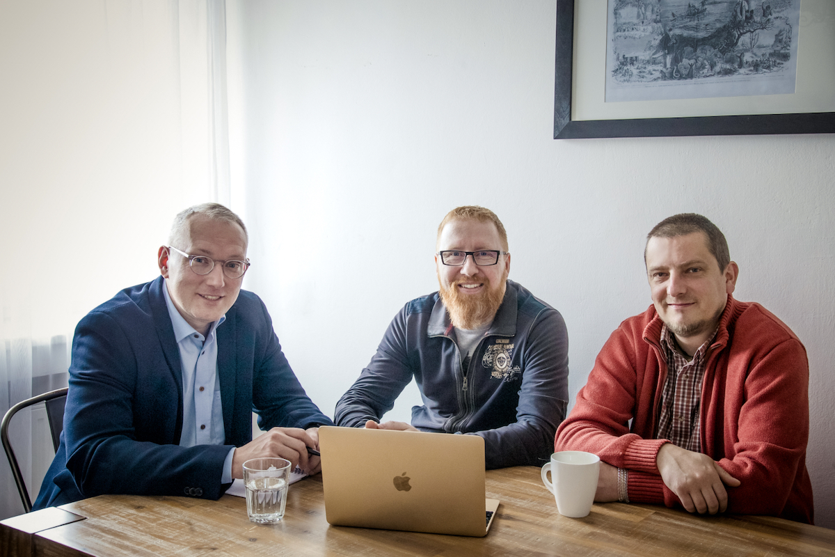Vedení agentury Move Up: zleva Boris Keka, Ivan Lukáš, Martin Schenk
