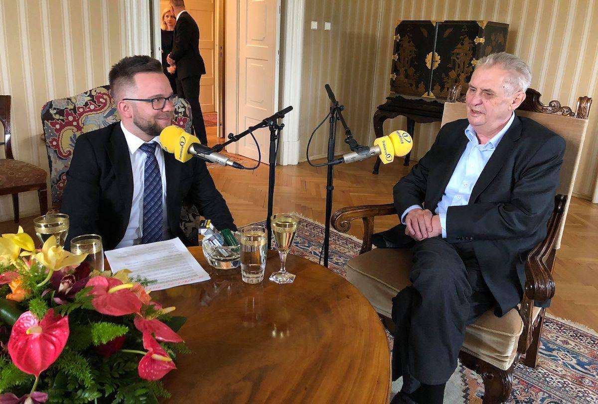 Luboš Procházka s prezidentem Milošem Zemanem