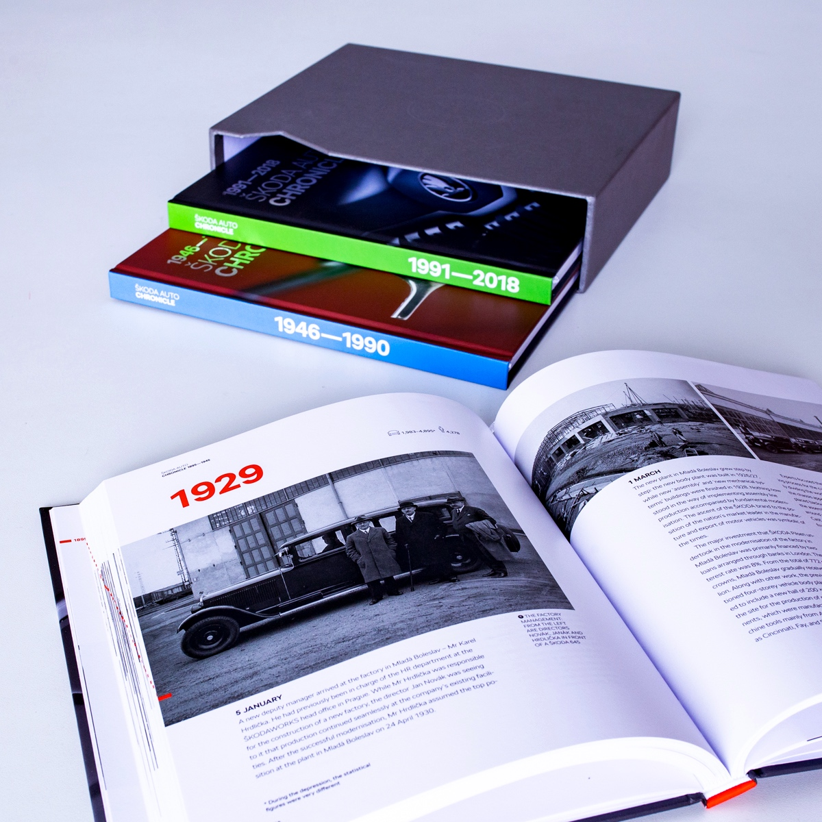 528 stran, 705 vyobrazení, to vše ve třech jazykových verzích je Kronika Škoda Auto, která se prodává za 1.101 Kč. První náklad byl vyprodán během pár týdnů