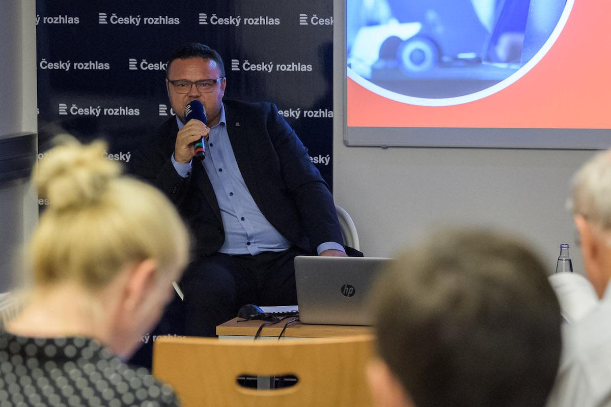 René Zavoral na dnešním setkání s novináři. Foto: Khalil Baalbaki, Český rozhlas