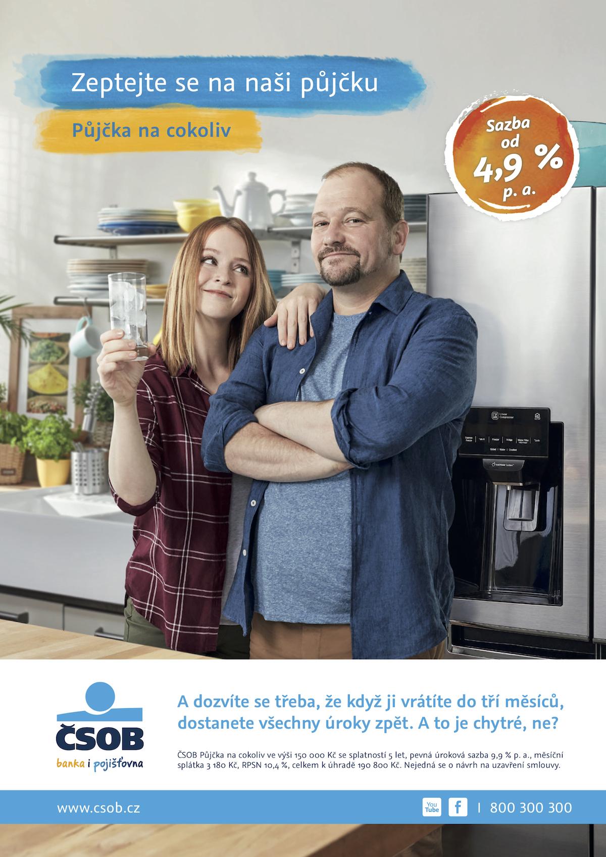 Marie Doležalová a Marek Taclík v další vlně kampaně ČSOB