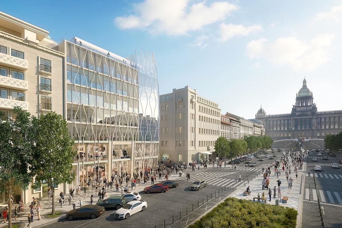 The Flow Building se staví na roku Václavského náměstí a Opletalovy ulice
