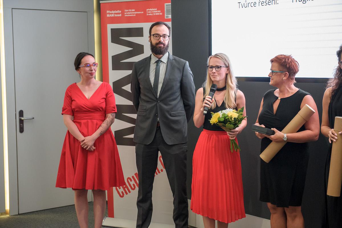 Zleva Michelle Losekoot, Daniel Seman (art director, Fragile), Eliška Kmochová (projektová manažerka kampaně, Fragile), Renata Unger (marketingová a produktová manažerka společnosti Václav Čížek)