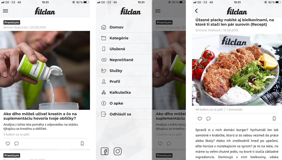 Aplikace Fitclan uživatelům nabízí přístup ke kompletnímu obsahu i službám navíc