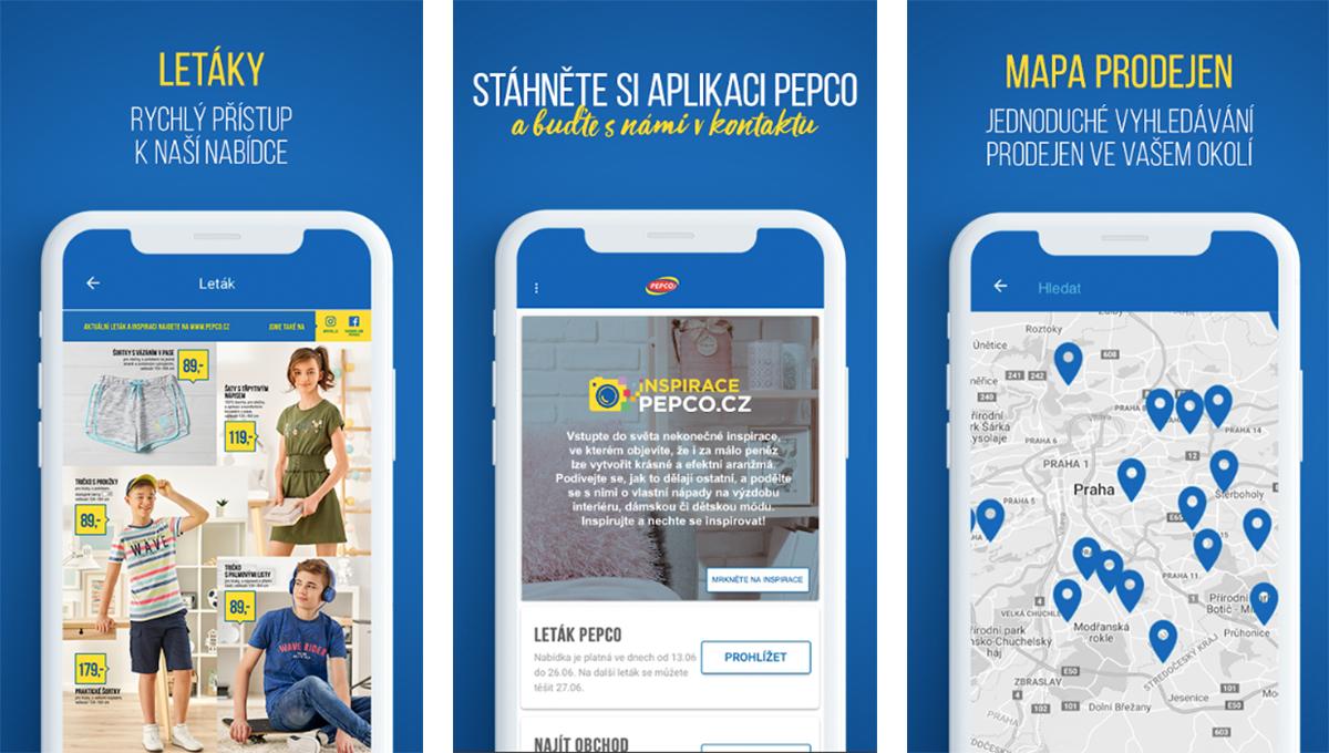 V aplikaci Pepco mohou uživatelé najít nejbližší pobočku nebo tipy, jak produkty řetězce využít