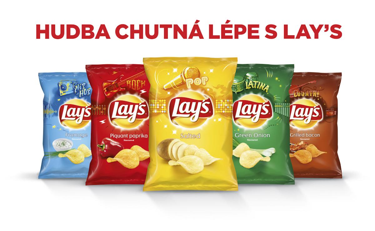 Letní balení chipsů Lay's
