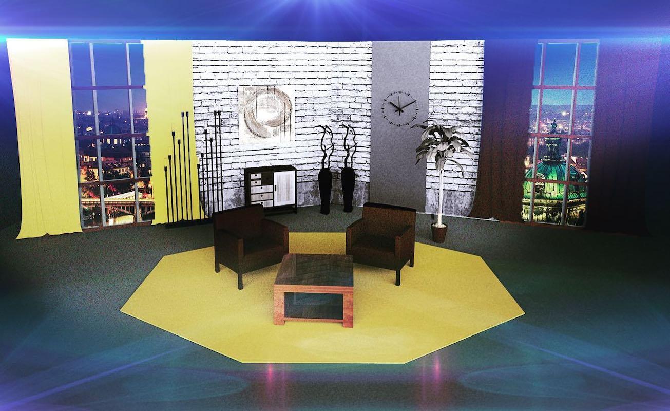 Jak by mohlo vypadat studio Ovčáčkovy show. Repro: Barrandov.tv