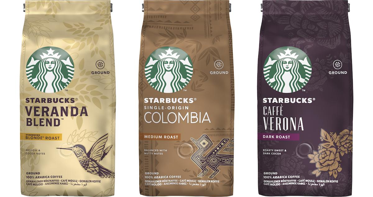 Nabídka pražené kávy Starbucks