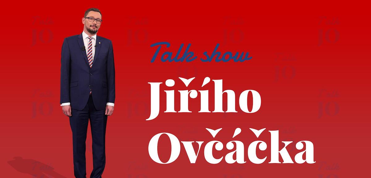 Grafika k pořadu Talk show Jiřího Ovčáčka, jak ji zveřejnil spřízněný web. Repro: Tyden.cz
