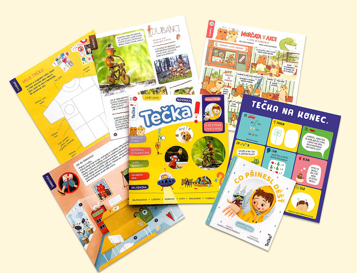 Nový časopis Tečka! má 40 stran, dalších 16 stran má vložený sešit Miničtení