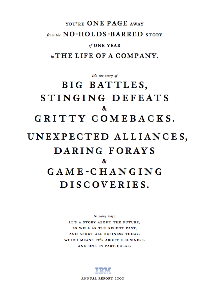 Z výroční zprávy IBM