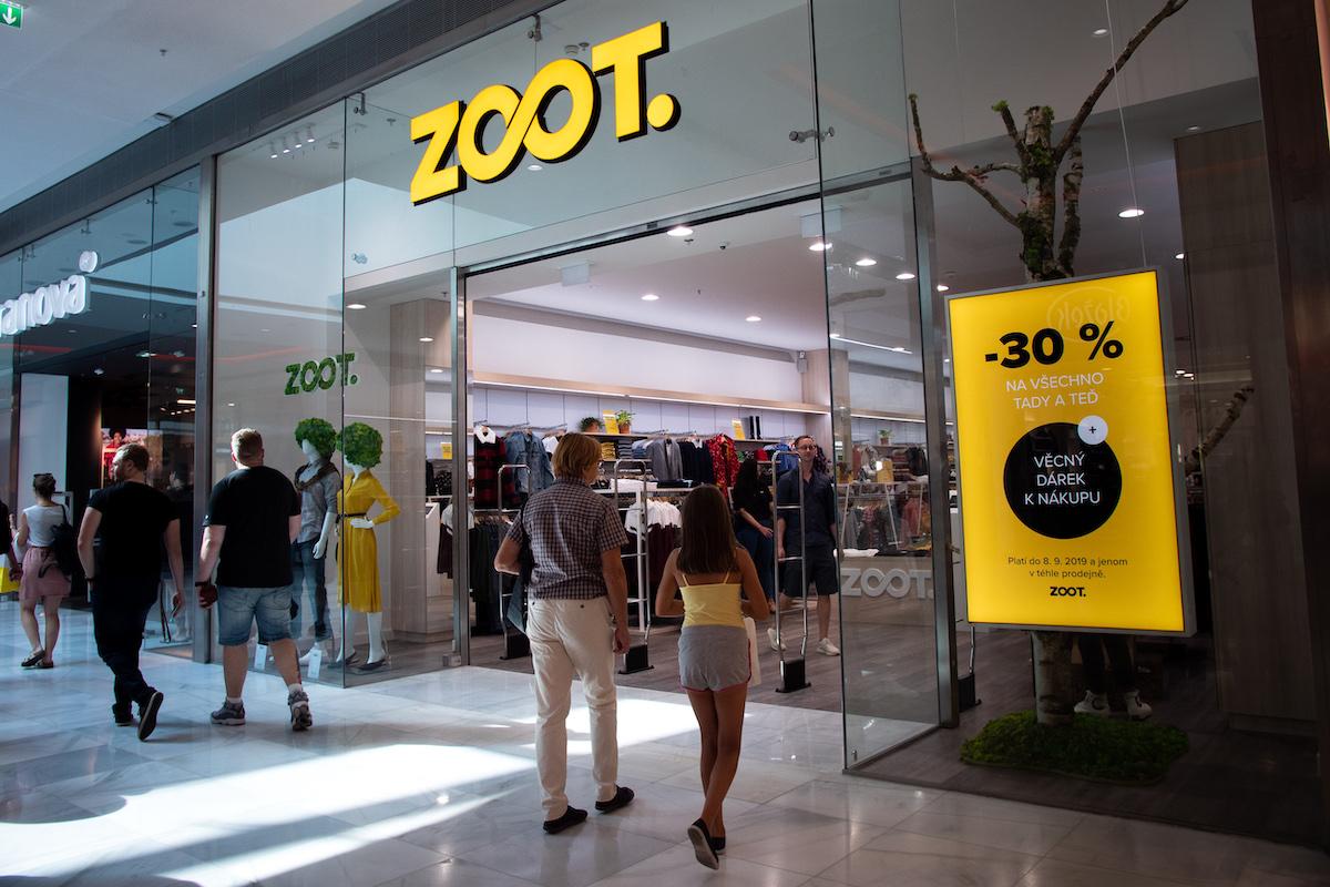 Nově otevřená prodejna značky Zoot v pražském Centru Černý Most