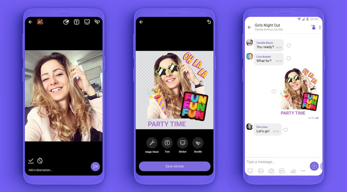 Samolepky si mohou uživatelé vytvářet i z vlastních fotek